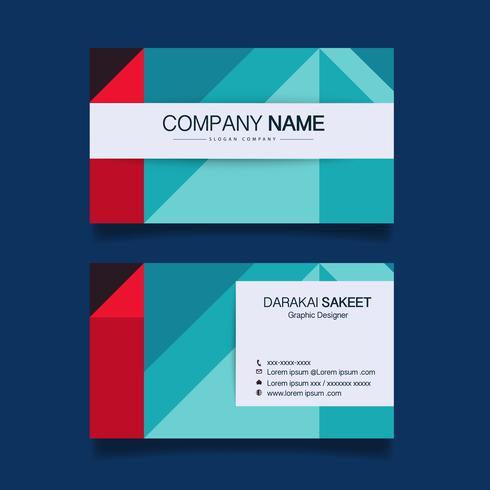 Tarjeta de presentación, plantilla de tarjeta de visita simple moderna. Ilustración vectorial