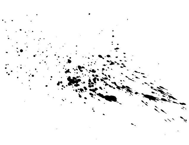Abstract black ink splash watercolor, Splash watercolor spray texture isolated on white background. Vector illustration.