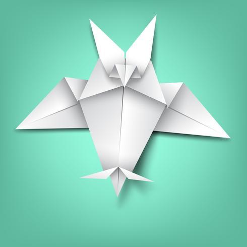 sabiduría en el murciélago de papel plegable vector
