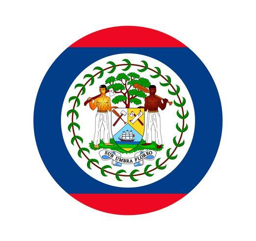 Rund flagga Belize.