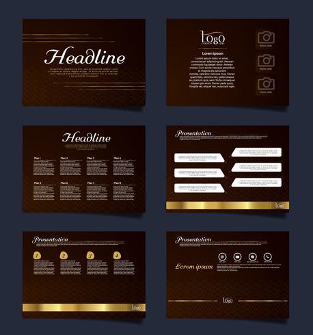 Presentación de negocios de plantillas de diapositivas a partir de elementos infográficos. folleto y folleto, folleto, informe corporativo, marketing, publicidad, informe anual, banner.