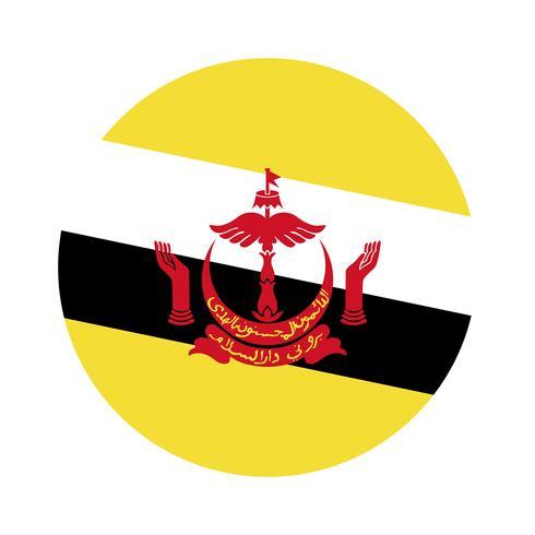 Rodada bandeira do Brunei.