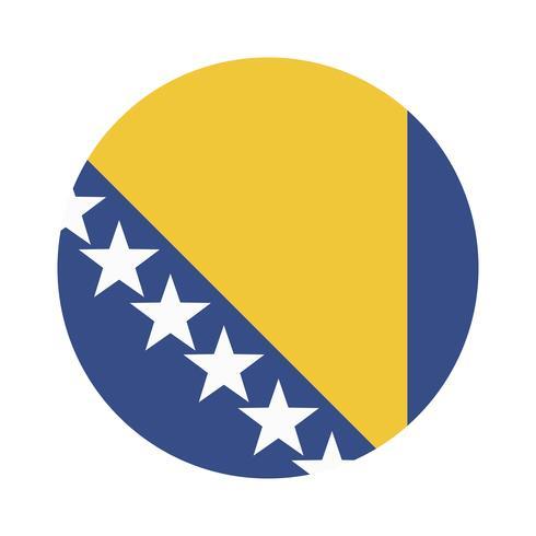 Round flag of Bosnia and Herzegovina.