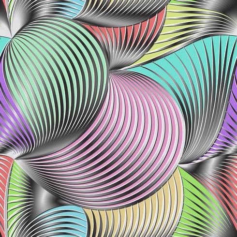 Gråskala gradient linje och och färg bakgrund sömlösa mönster på vektorkonst.