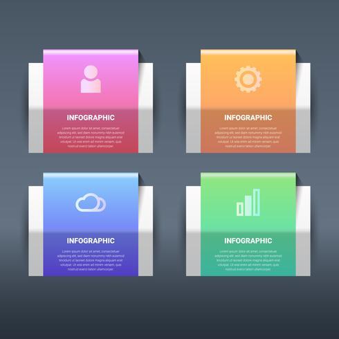 Vetor abstrato 3d papel infográfico elementos
