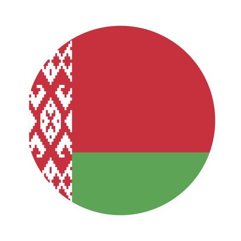 Rodada bandeira da Bielorrússia.