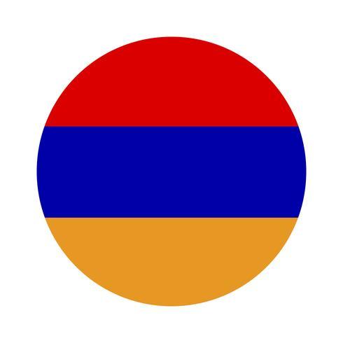 Armeniens runda flagga. vektor