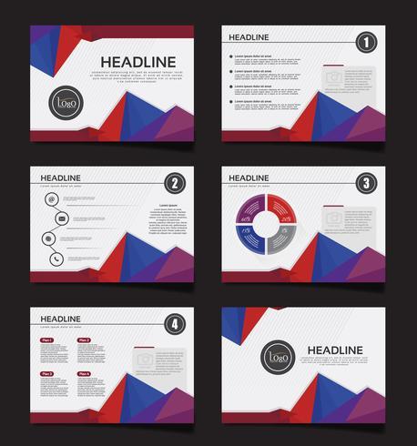 Apresentação de negócios slides modelos de elementos de infográfico. panfleto e folheto, brochura, relatório corporativo, marketing, publicidade, relatório anual, banner. vetor