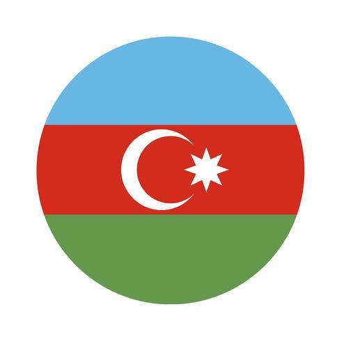 Runde Flagge von Aserbaidschan.
