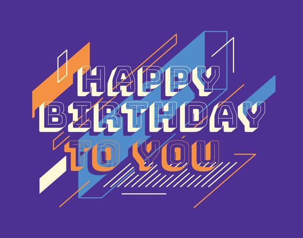 Grattis på födelsedagstypografi vektor
