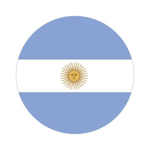 Rodada Bandeira Da Argentina Download Vetores Gratis