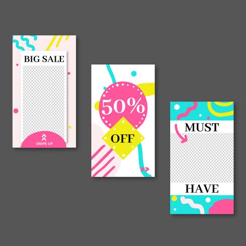 Colorful App Template Collection vector