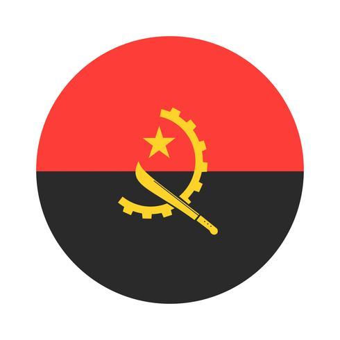 Angola runda flagga.