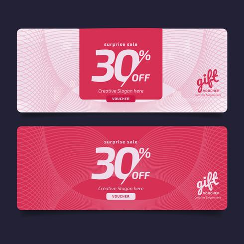 Gift Voucher Premium Design Voucher, Coupon template Golden, Design concept for gift coupon