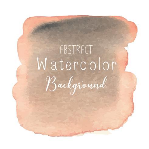 Oranje abstracte aquarel achtergrond. Vector illustratie.