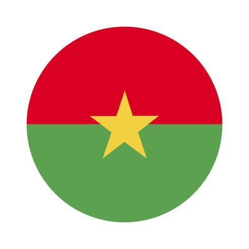 Rodada bandeira de Burkina Faso.