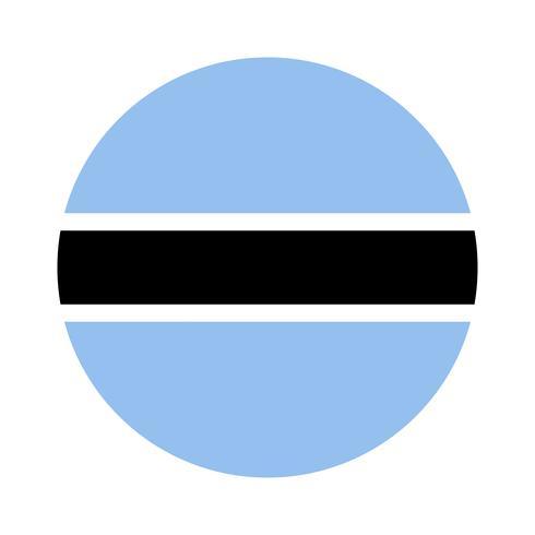 Round flag of Botswana.