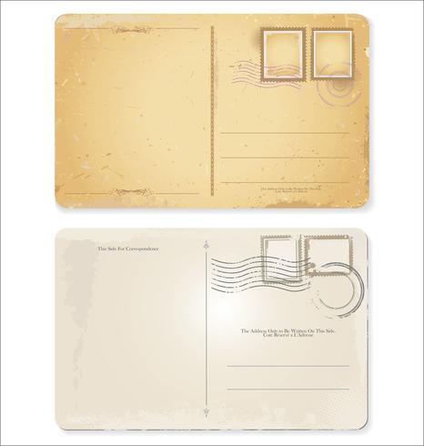 Design retro cartão postal vetor