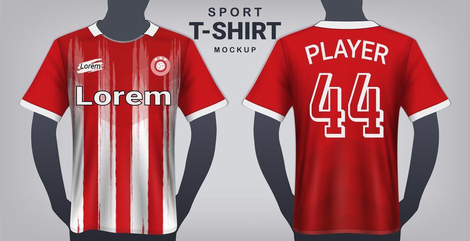 Modèle de maquette de maillot de football et de sport, conception graphique réaliste avant et arrière pour les uniformes de kit de football.