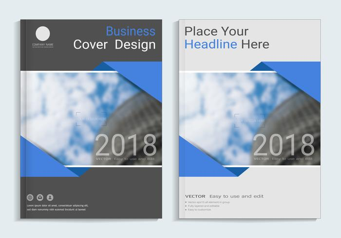 Covers design with space for photo background.