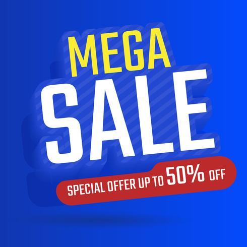 Koop banner sjabloonontwerp, Maga verkoop speciale aanbieding, speciale aanbieding Tot 50% korting vector illustratie
