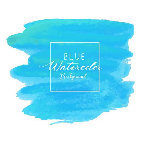 Fondo de acuarela abstracta azul. Elemento acuarela para tarjeta. Ilustracion vectorial vector