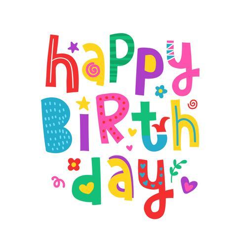 Happy Birthday Typografie Design vector