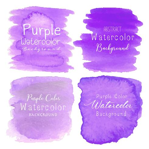 Fondo de acuarela abstracta púrpura. Ilustracion vectorial vector