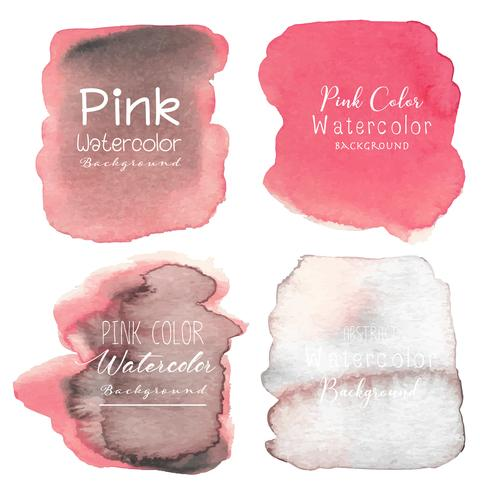 Fondo rosado abstracto de la acuarela. Ilustracion vectorial vector