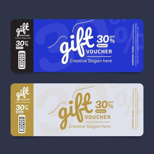 Geschenkgutschein Premium Design Gutschein, Gutscheinvorlage Golden, Designkonzept für Geschenkgutschein vektor
