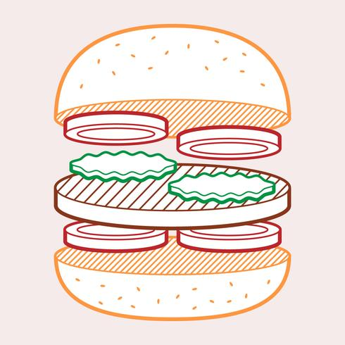 Burger Toast Summer Food Illustration