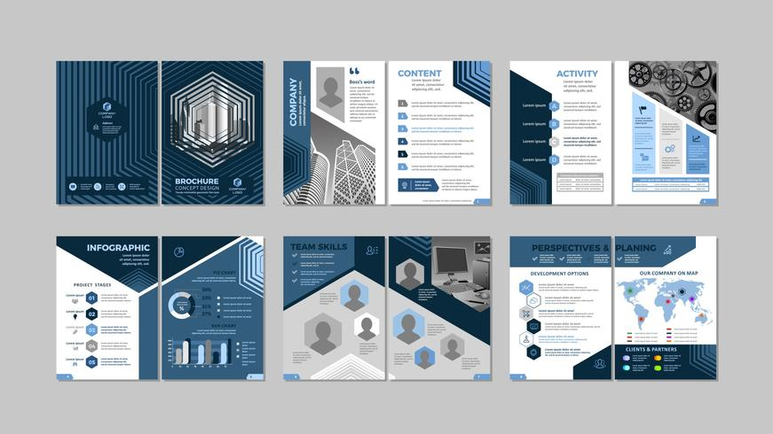 Brochure creative design vector