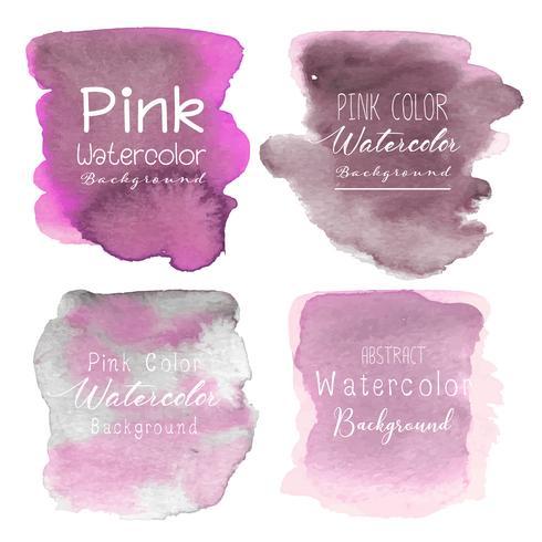Fondo rosado abstracto de la acuarela. Ilustracion vectorial