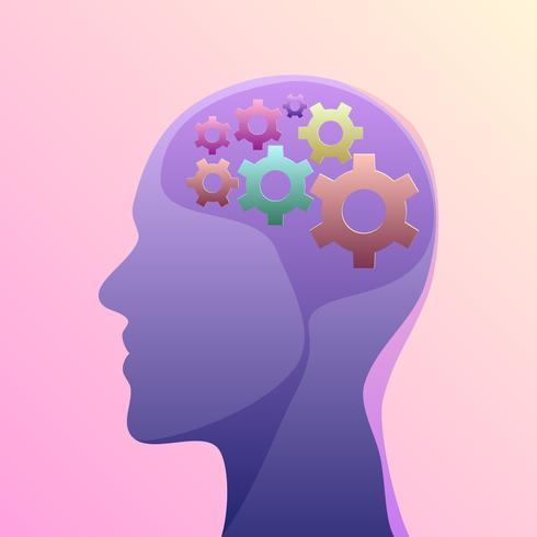 Gear salute mentale vettoriale