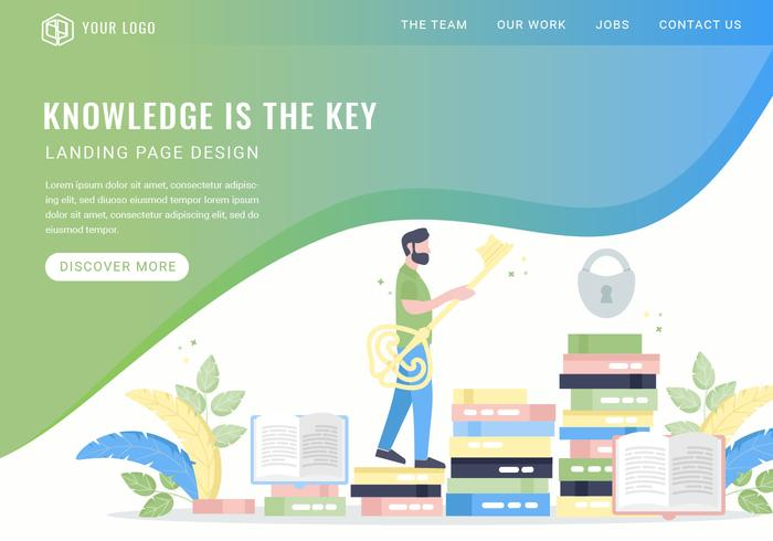 Vector Knowledge är Key Landing Page