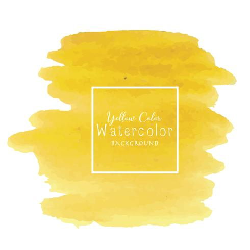 Yellow abstract watercolor background, Watercolor element for card, Vector illustration.