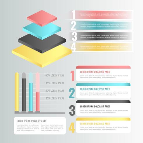 Vektor 3D Infographik Elemente