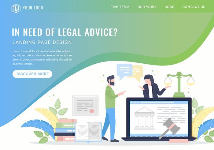 Vector Legal Advice Services Landningssida