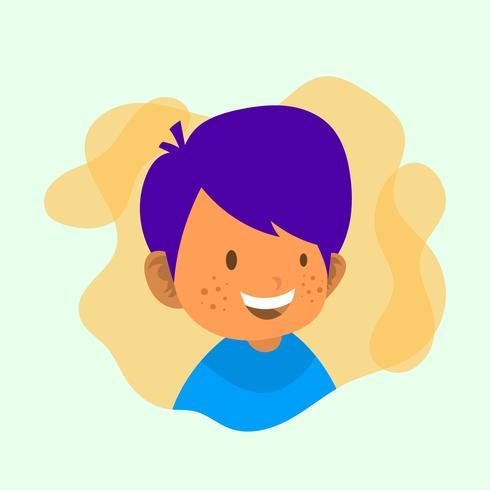 Flat Barn Karaktär Vektor Illustration