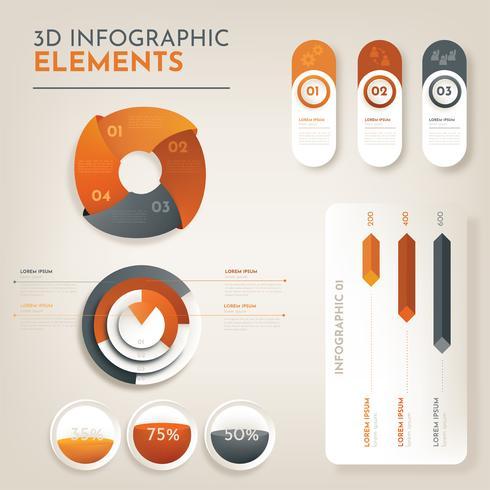 Infografía 3D Vector Pack