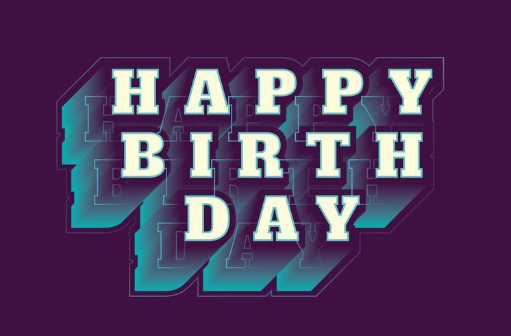 Tipografía de feliz cumpleaños vector