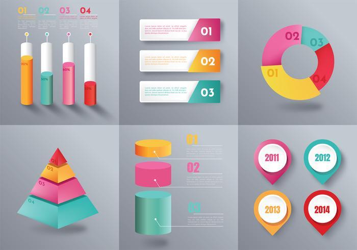 Infographic elementen Vector Pack