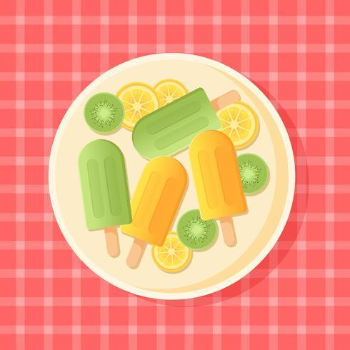 Sommer-Eiscreme-Vektor