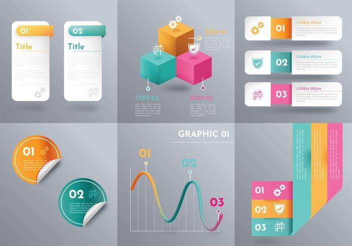 Paquete de vectores de elementos de Inographic