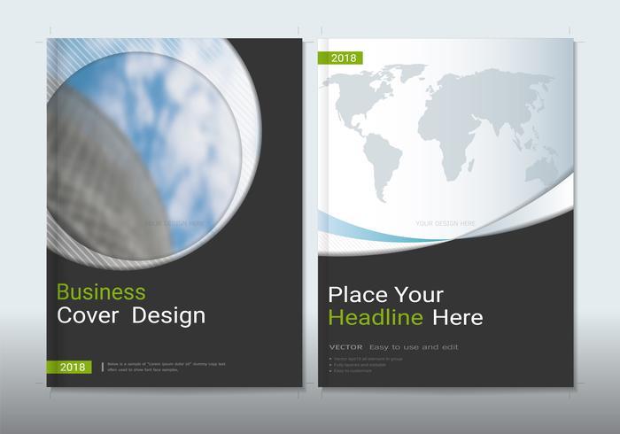 Design de capas com espaço para o fundo da foto. vetor