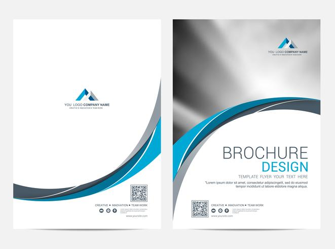 Brochure lay-out sjabloon, cover ontwerp achtergrond