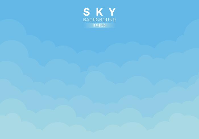 Blå himmel och moln bakgrunds papper klippt stil naturligt begrepp.