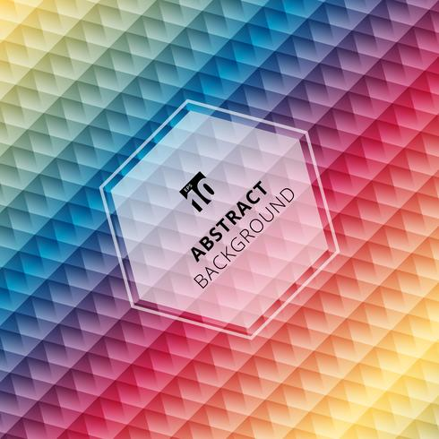 Abstract geometric hexagon pattern colorful background, Creative design templates vector