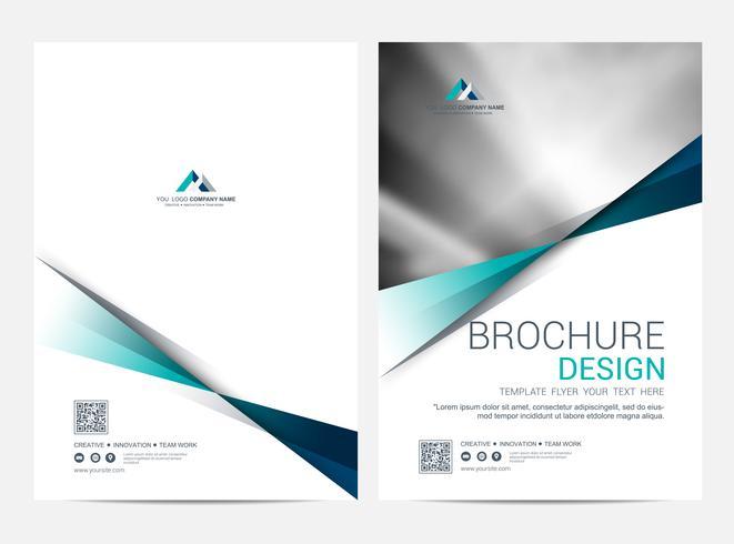 Broschyr Layout mall, omslagsdesign bakgrund vektor
