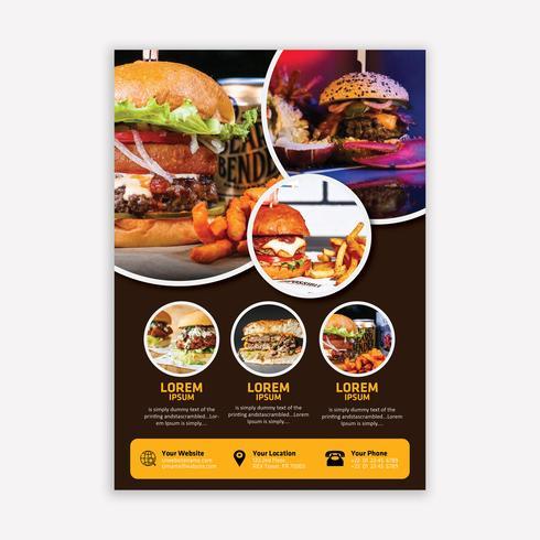 Brochura de alimentos vetor